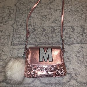 Justice Glitter Initial M Purse ( Girls )